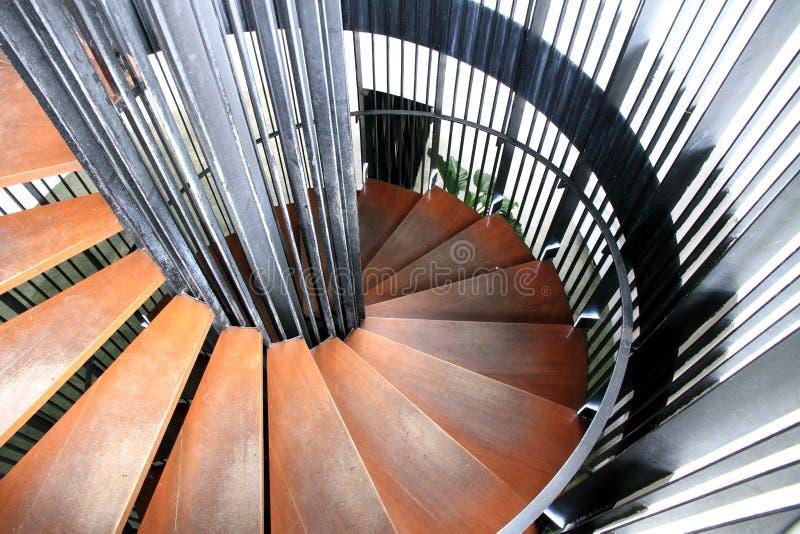 Circular stair. A hand made wood work circular stair stock photos