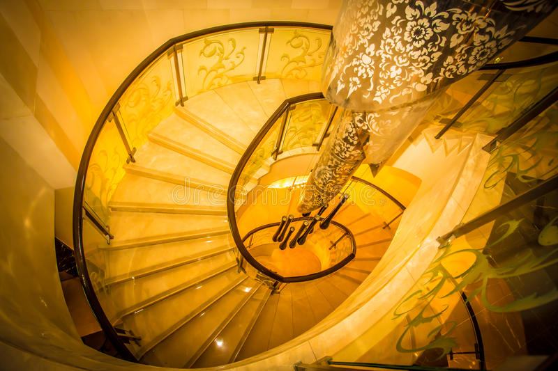Circular staircase stock images