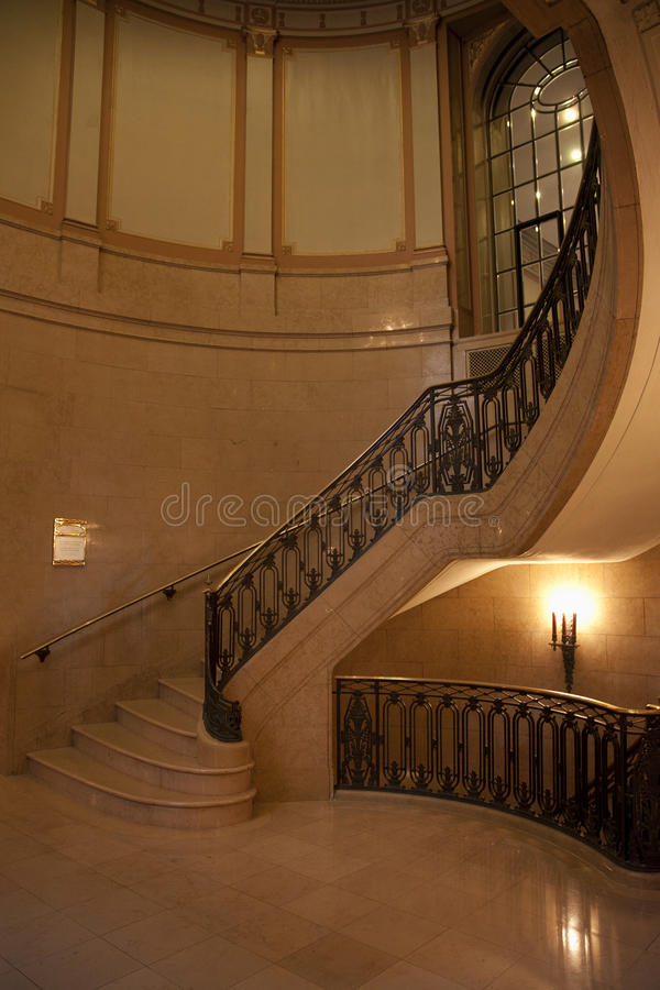 Circular Stairwell. A circular stairwell going to the upper floors royalty free stock images