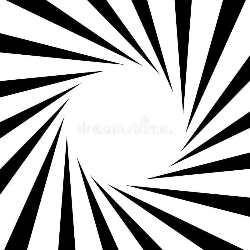Circular, stripes lines geometric pattern. Monochrome illustrati stock illustration