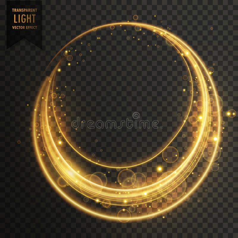 circular transparent light effect with sparkles stock illustration