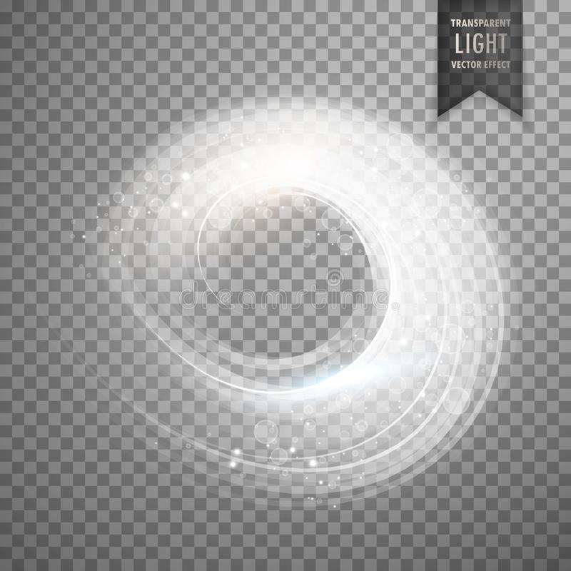 circular transparent white light effect background stock illustration