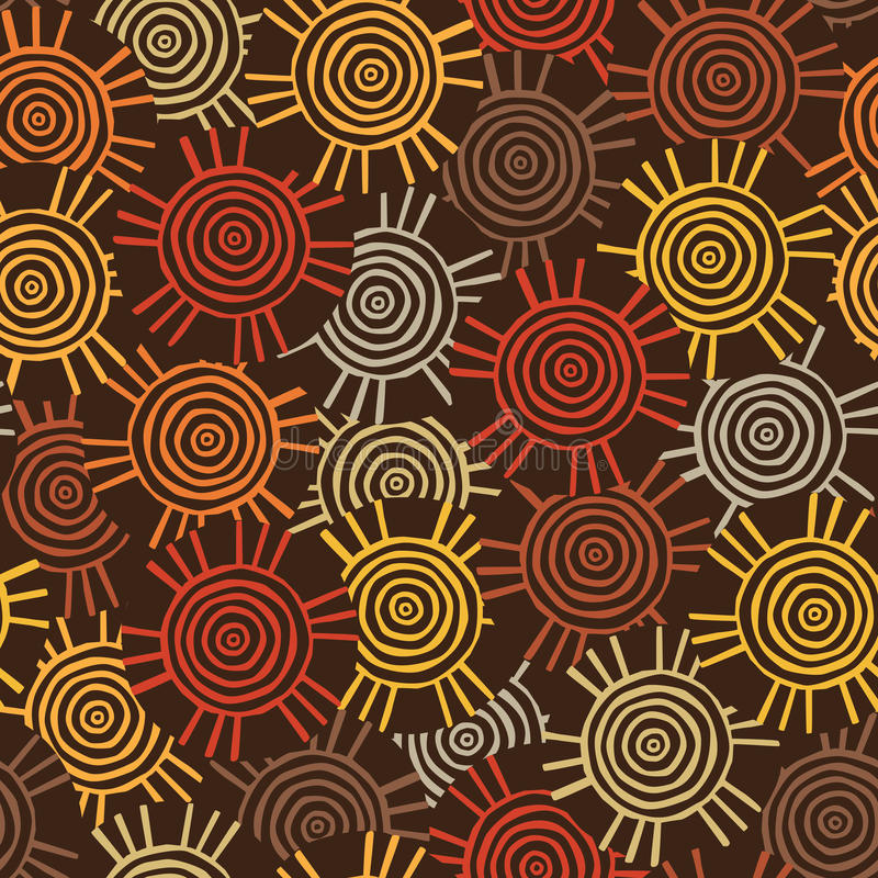 Circular Tribal Pattern With Motifs Of African Tribes