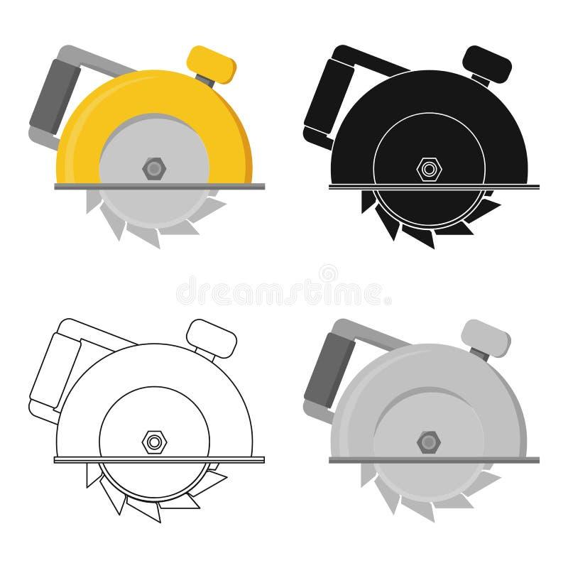 Circular vio el icono en estilo de la historieta aislado en el fondo blanco Ejemplo del vector de la acción del símbolo de la est libre illustration