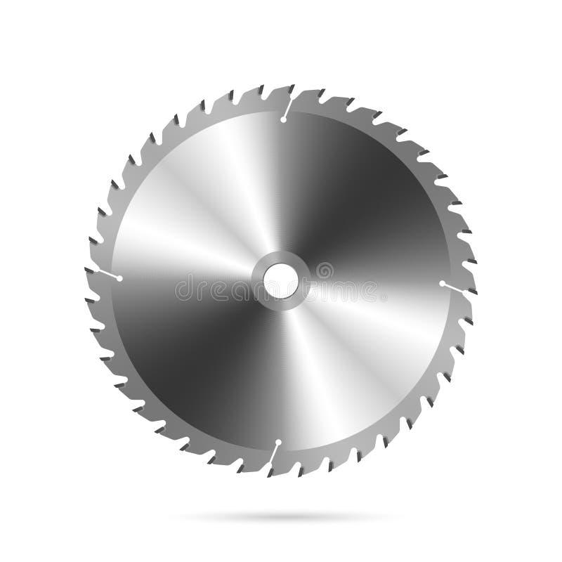 A circular viu a lâmina ilustração stock
