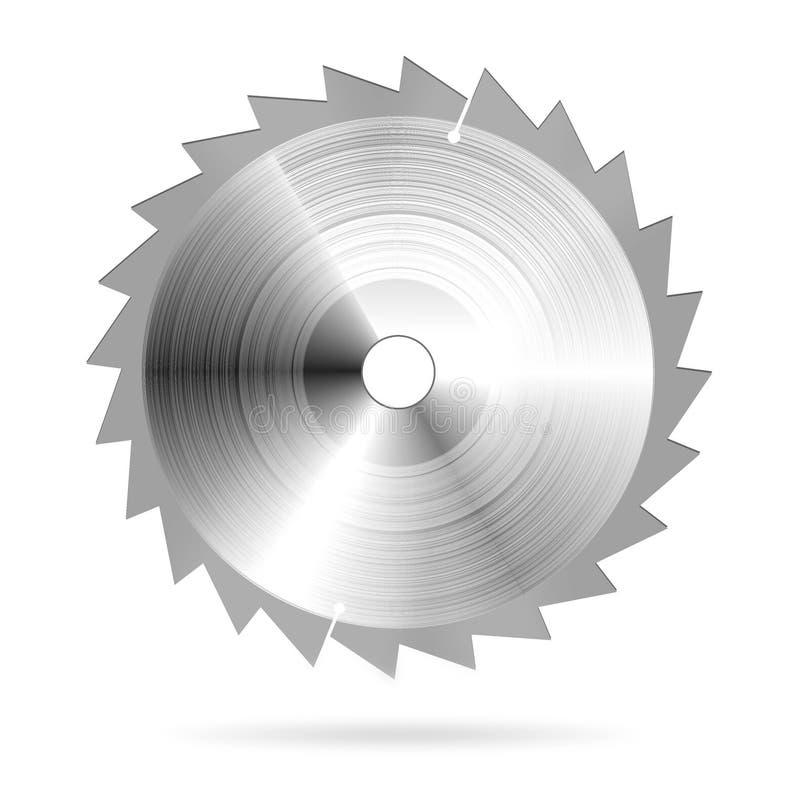 A circular viu a lâmina ilustração royalty free