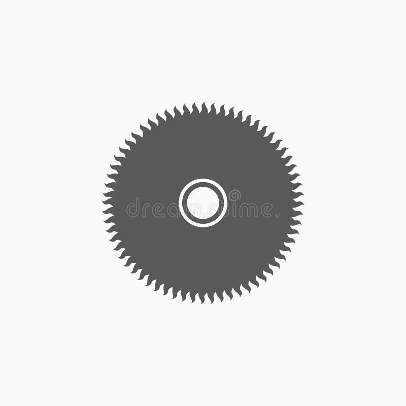 A circular viu o ícone da lâmina, serra, ferramenta, carpinteiro ilustração royalty free