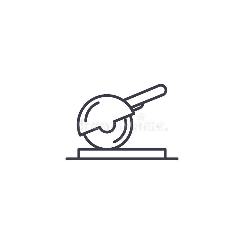 A circular viu o conceito linear do ícone A circular viu a linha sinal do vetor, símbolo, ilustração ilustração stock