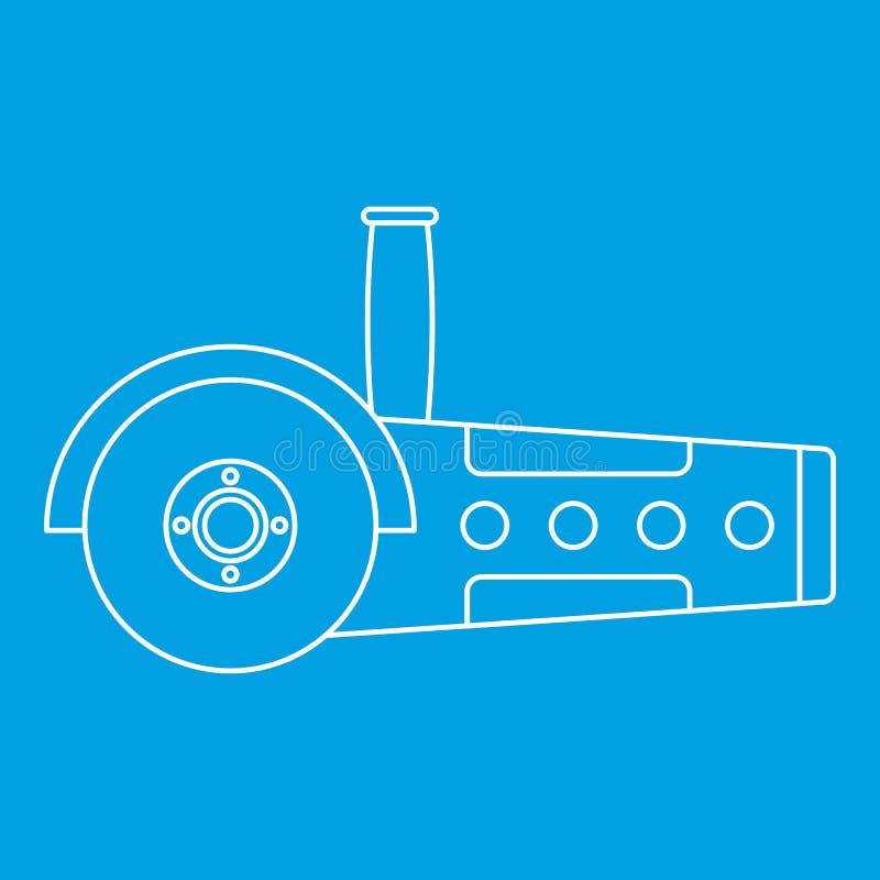 A circular viu o esboço do ícone ilustração stock