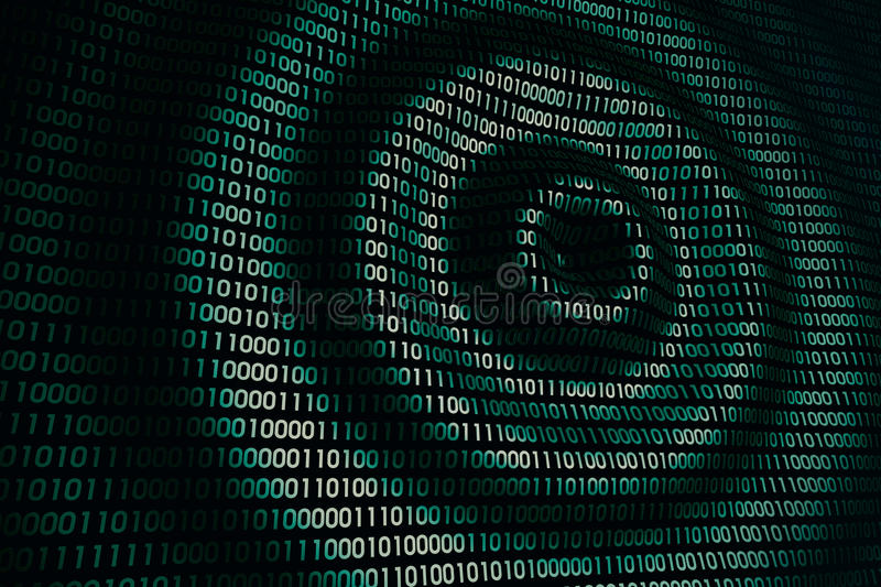 Download Circular Waves On Abstract Digital Wall In Cyberspace Stock Photo - Image: 83716529