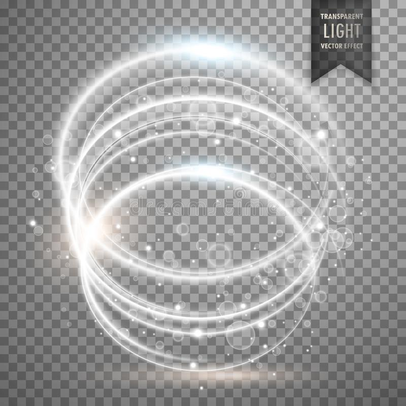 Circular white transparent light effect background royalty free illustration