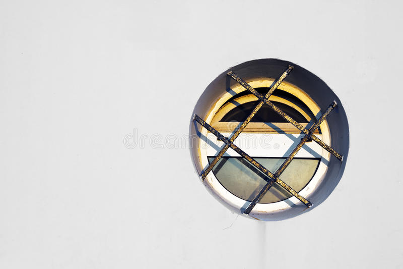 Circular window stock photo