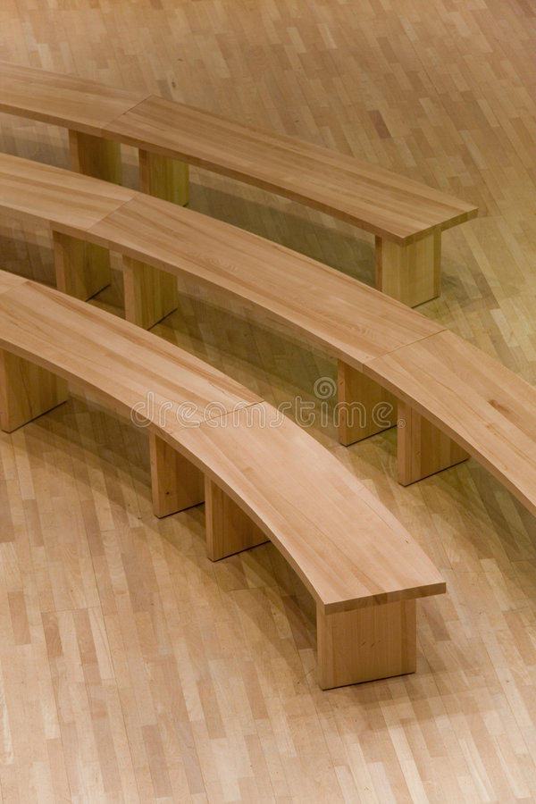 circular wooden benches stock photo image of floor clean