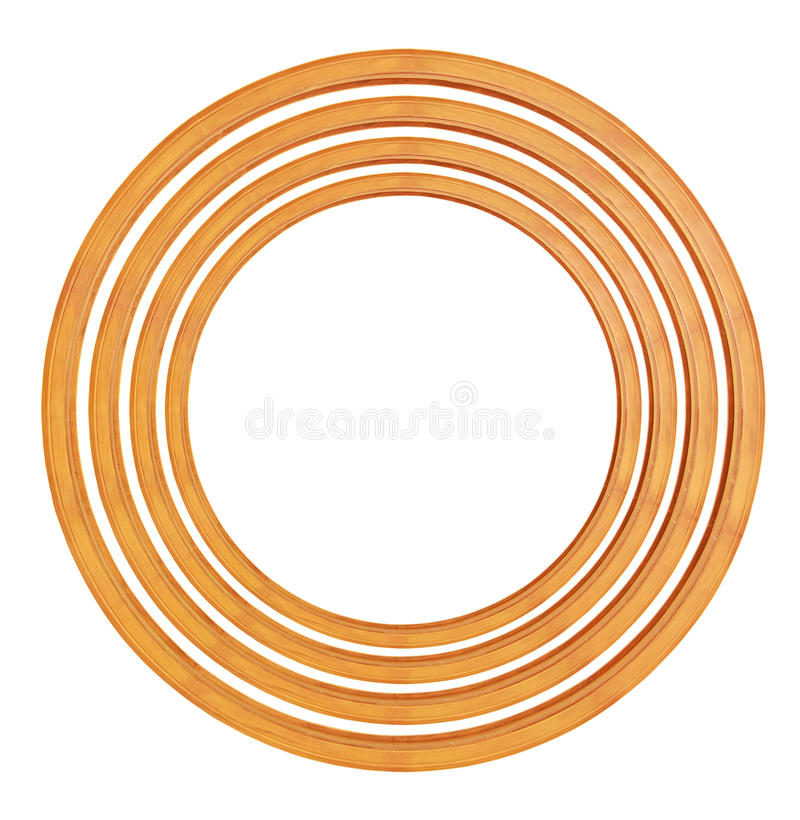 Circular wooden frame vector illustration