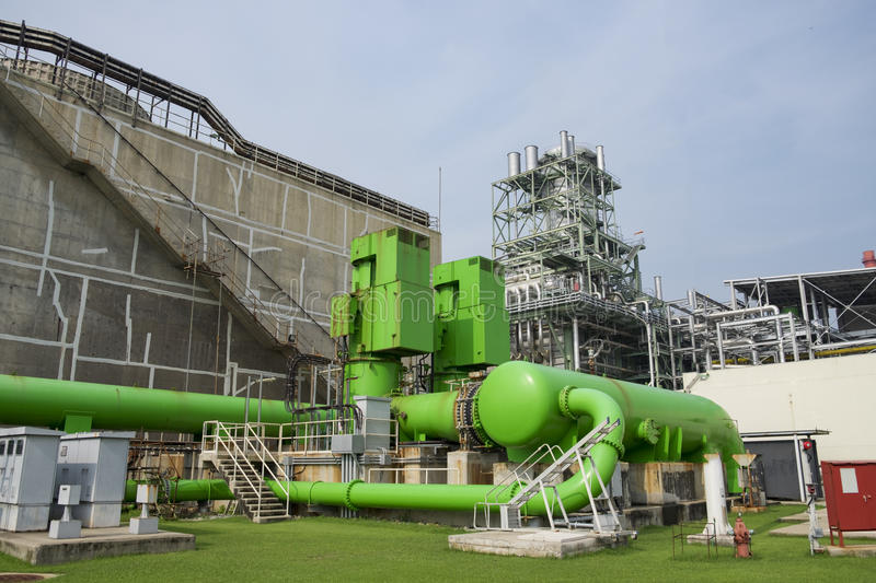Circulating water pump of cooling water. In combine cycle power plant stock photo
