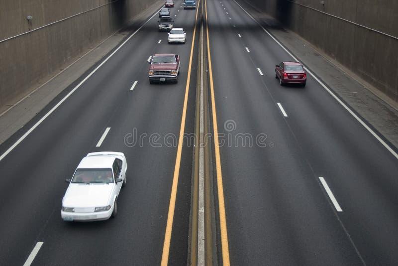 Circulation d'autoroute image libre de droits