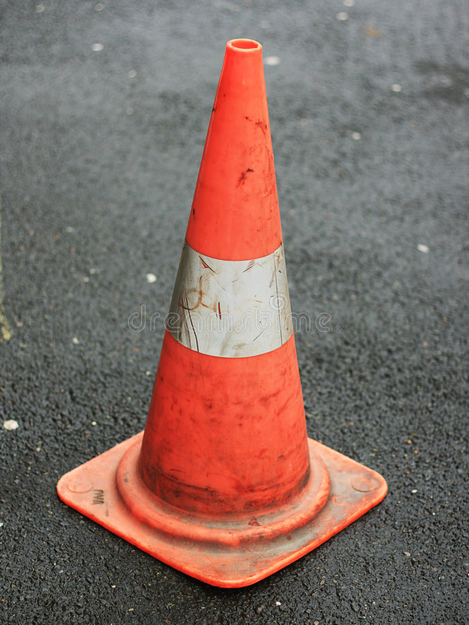 circulation d'orange de cône photo libre de droits