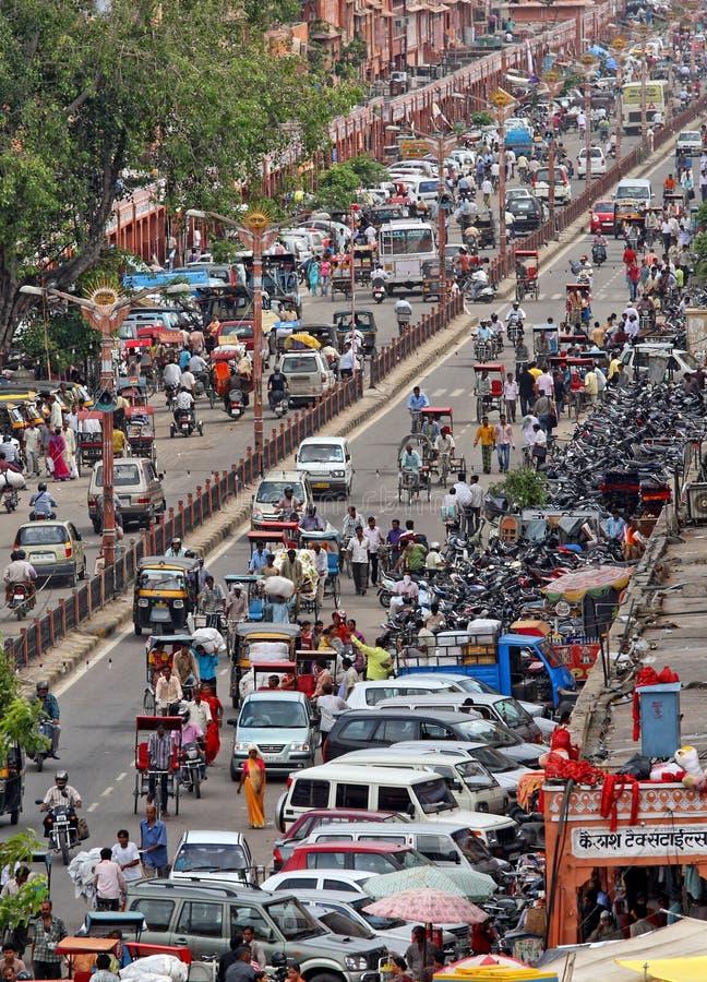 Circulation dans la rue indienne photo libre de droits