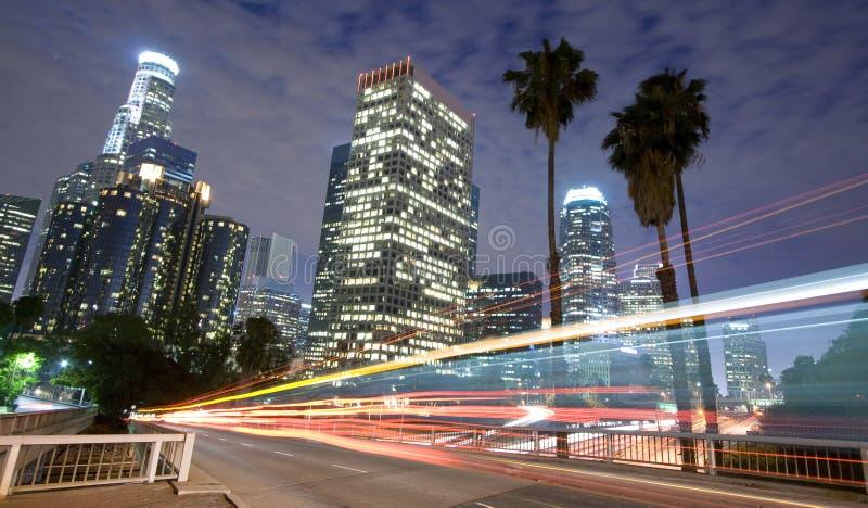 Circulation de Los Angeles et horizon de ville photo libre de droits