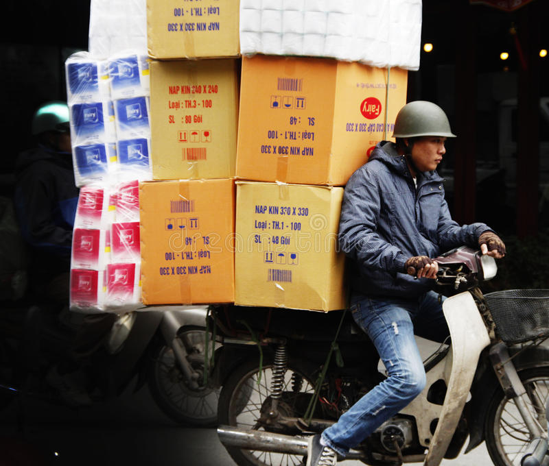 Circulation de motocyclette au Vietnam photographie stock libre de droits