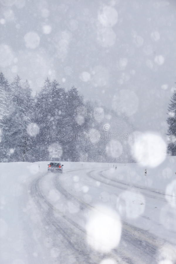 Circulation de neige de véhicule photos stock