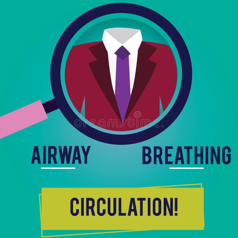 Circulation de respiration de main d'écriture de voie aérienne conceptuelle d'apparence Aide de présentation de mémoire de photo  illustration de vecteur