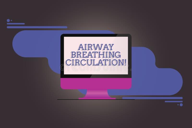 Circulation de respiration de voie aérienne d'écriture des textes d'écriture L'aide de mémoire de signification de concept pour d illustration de vecteur