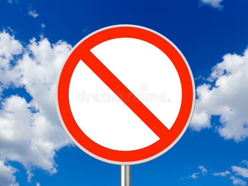 circulation de signe de cercle illustration libre de droits