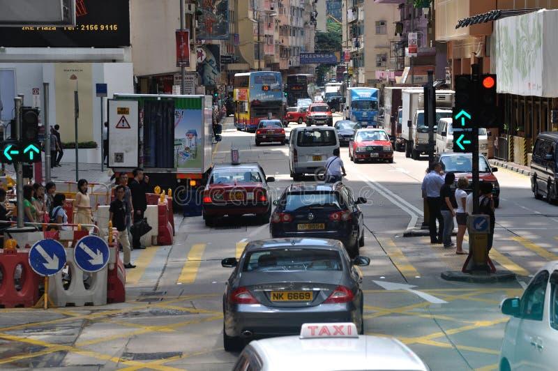 Circulation et environnement de rue à Hong Kong image libre de droits