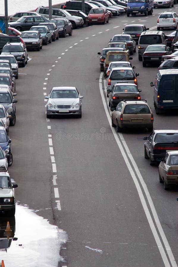 Circulation routière à Moscou photos libres de droits