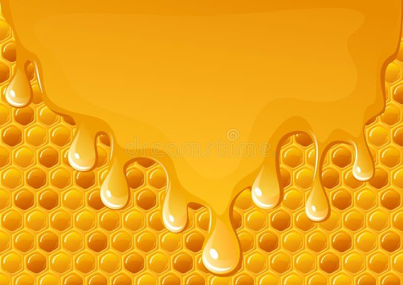 Circuler de miel illustration de vecteur