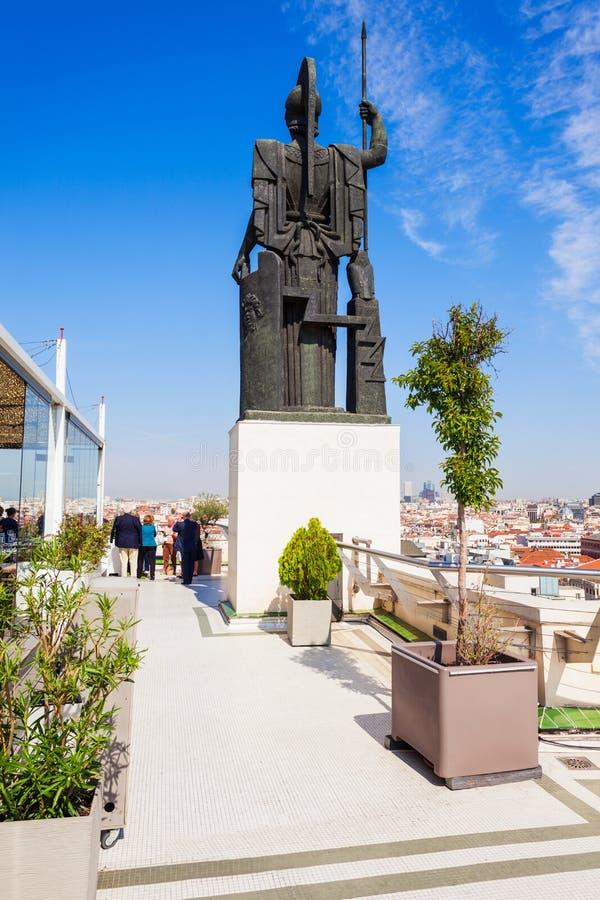 Circulo de Bellas Artes terrace in Madrid. Circulo de Bellas Artes rooftop terrace viewpoint in Madrid, Spain stock photo
