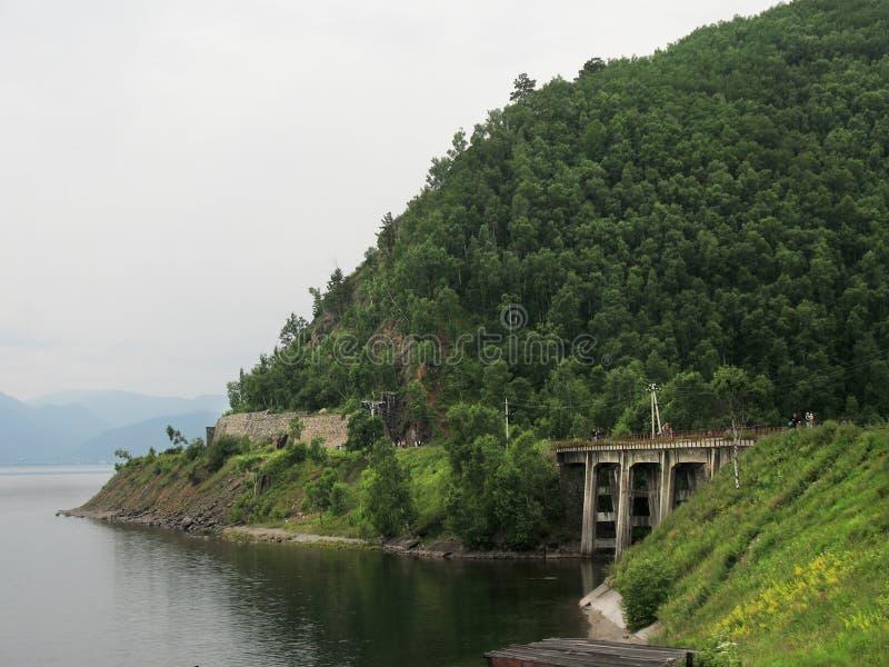 Circum Baikal droga - dziejowa część Trans Syberyjski railw zdjęcia royalty free