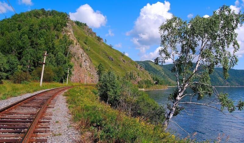 Circum-Baikal-Eisenbahn stockbild