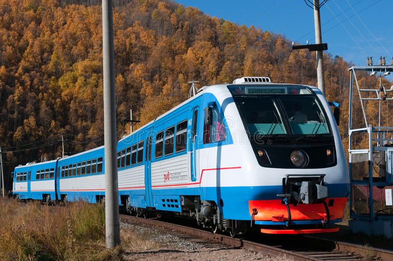 Circum-Baikal-Gleis stockbild
