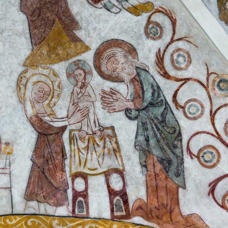 Circuncisión de Cristo, Pared-pintura imágenes de archivo libres de regalías