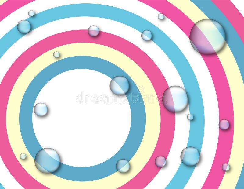 Circunda o fundo com as gotas da água ilustração royalty free
