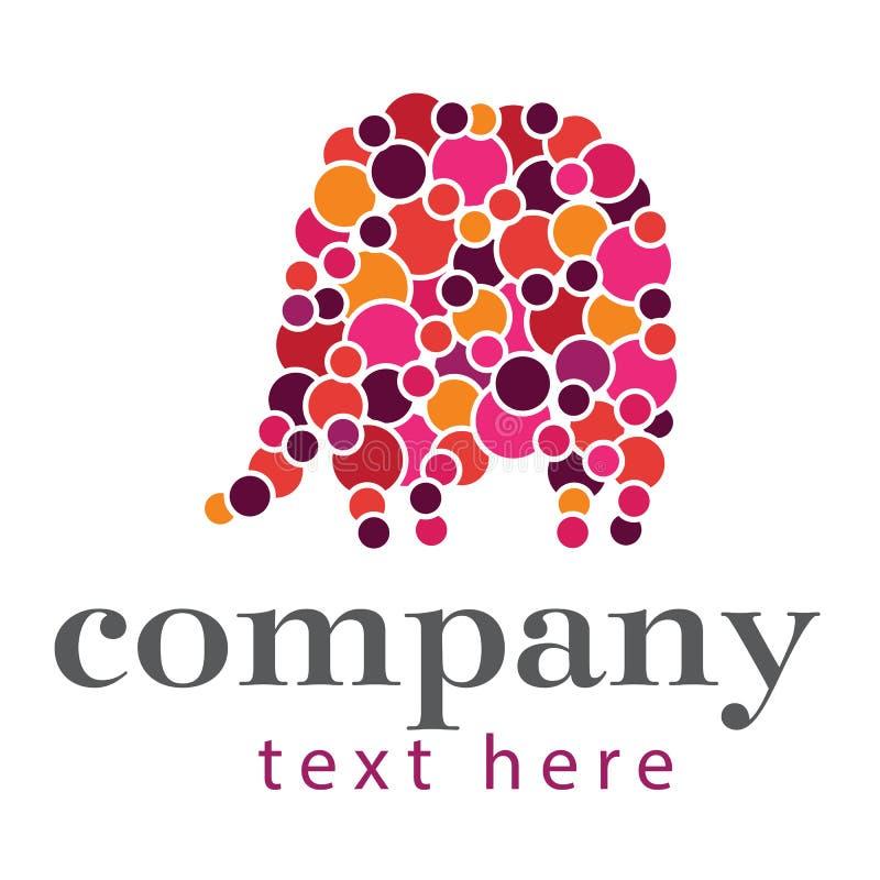 Circunda o logotipo do elefante foto de stock royalty free