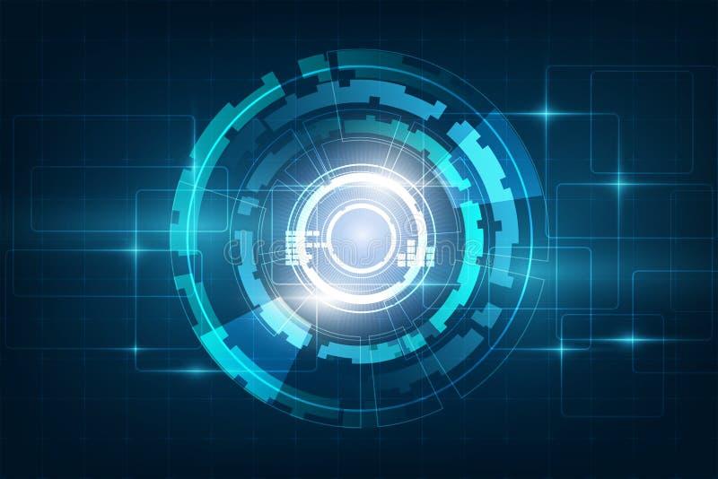 Circunde el backgr abstracto azul del vector del concepto de la innovación de la tecnología ilustración del vector