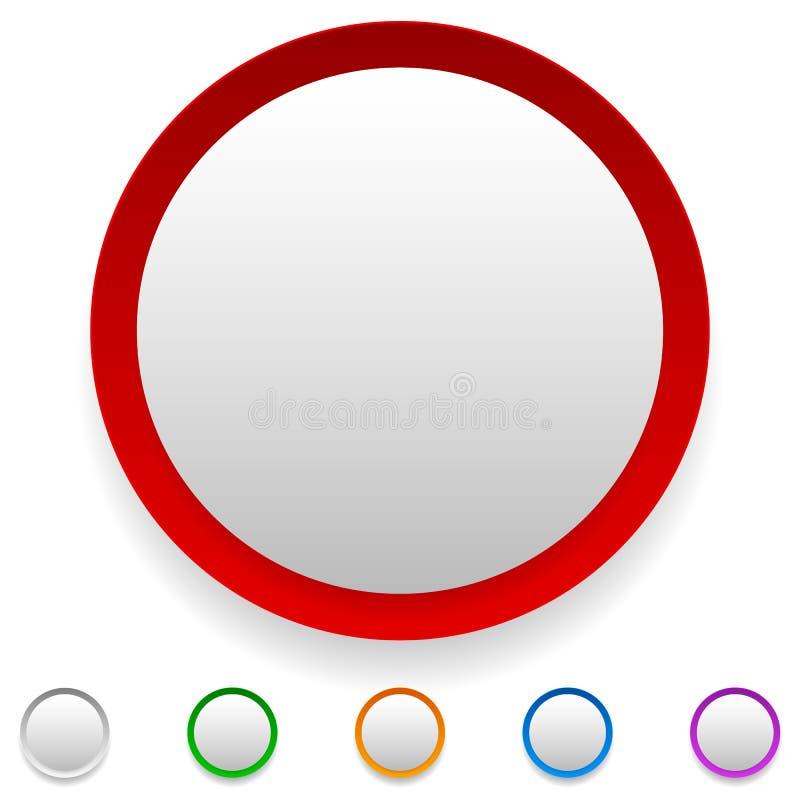 Circunde el botón, icono del círculo fijado con el espacio vacío libre illustration