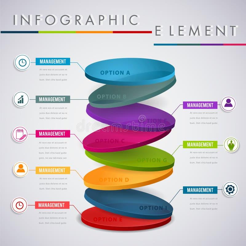 Circunde el diseño infographic de la capa, para el negocio de la presentación stock de ilustración