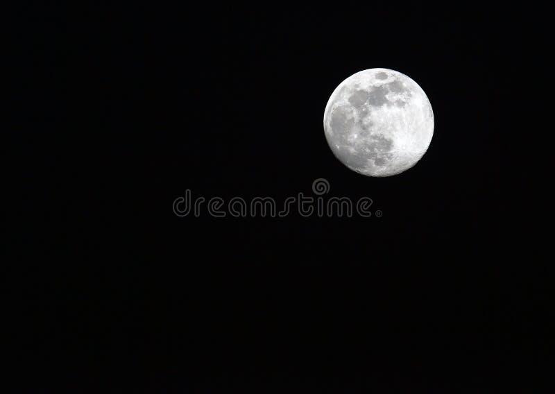 Circunde la luna fotografía de archivo