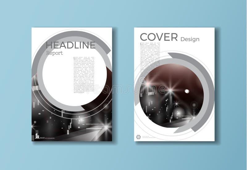 Circunde la plantilla moderna del folleto de la cubierta, diseño, informe anual, mA libre illustration
