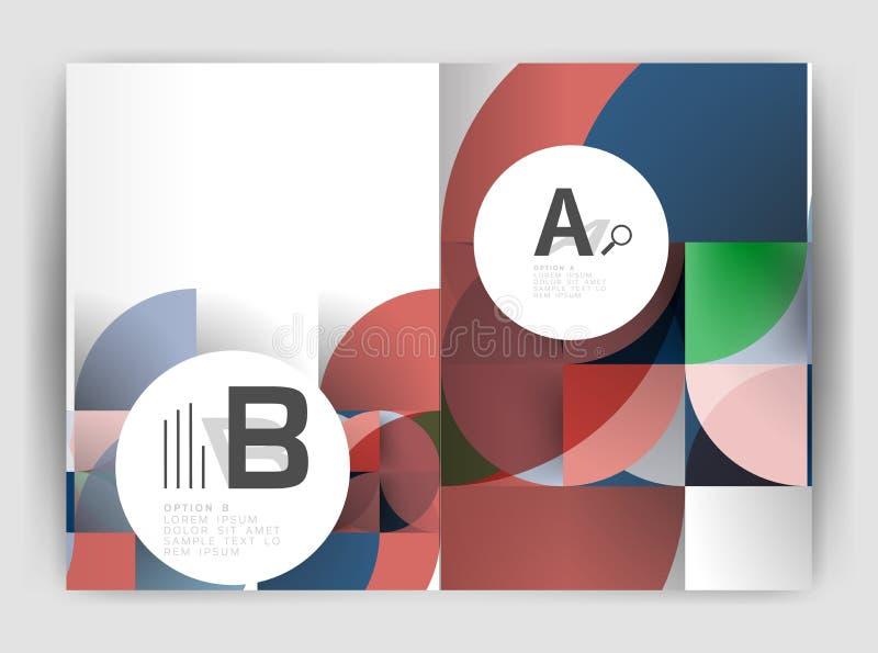 Circunde los fondos abstractos del vector, plantillas del negocio del informe anual stock de ilustración