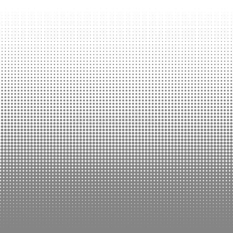 Circunde o fundo preto e branco da textura dos pontos da reticulação para o teste padrão abstrato e o projeto gráfico ilustração do vetor