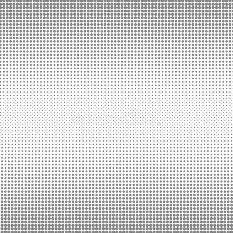Circunde o fundo preto e branco da textura dos pontos da reticulação para o teste padrão abstrato e o projeto gráfico ilustração royalty free