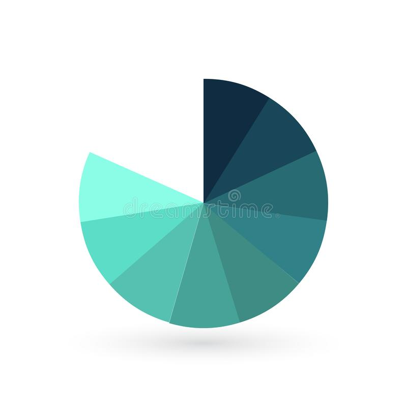 Circunde o molde infographic com as 9 opções para apresentações, propaganda da carta, disposições, informes anuais ilustração do vetor