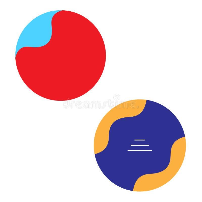 Circunde o símbolo da empresa de negócio do projeto do sumário do logotipo da forma ilustração do vetor