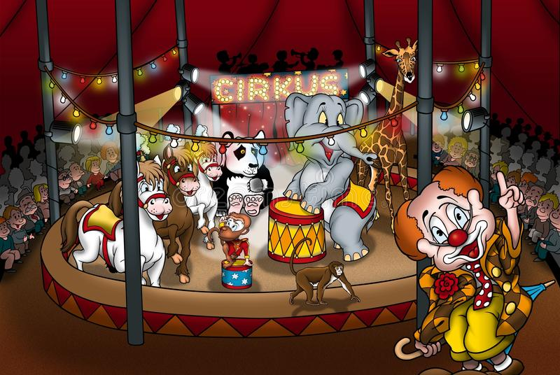 Download Circus stock illustration. Image of manege, monkey, audience - 20000092
