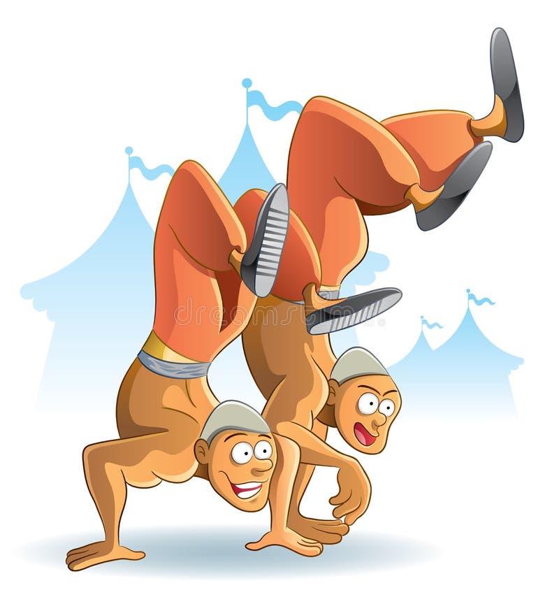 Download Circus Acrobatic stock vector. Image of bald, cartoon - 20111753